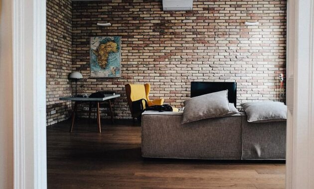 house interior couch sofa living room brick 2