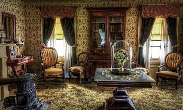 living room victorian historic vintage interior old retro antique history