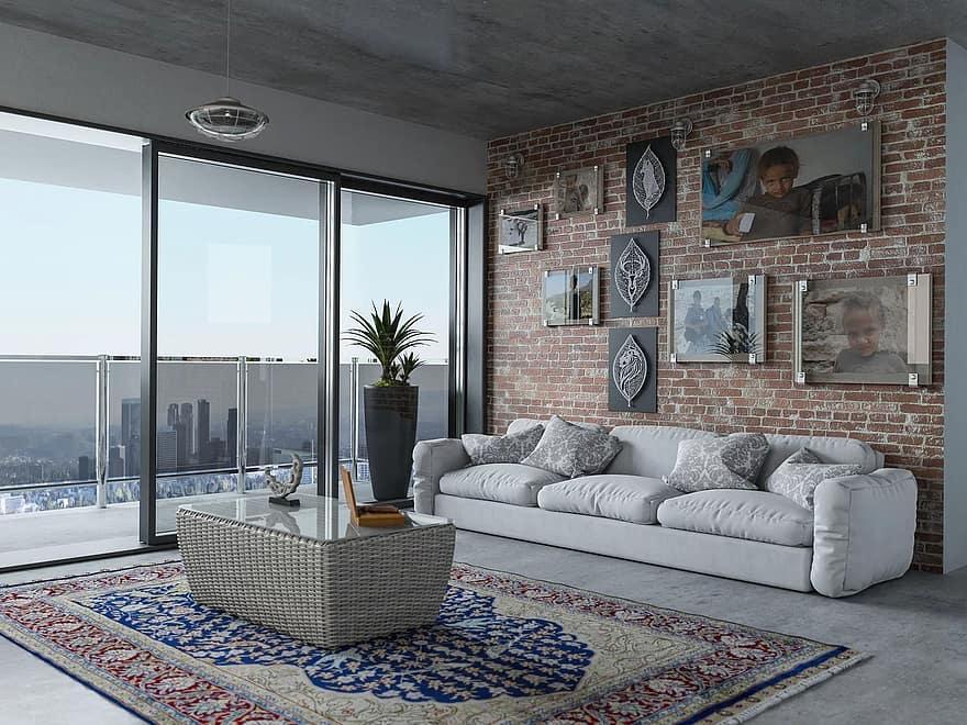 window furniture room inside the house home sofa apartment carpet chair 1