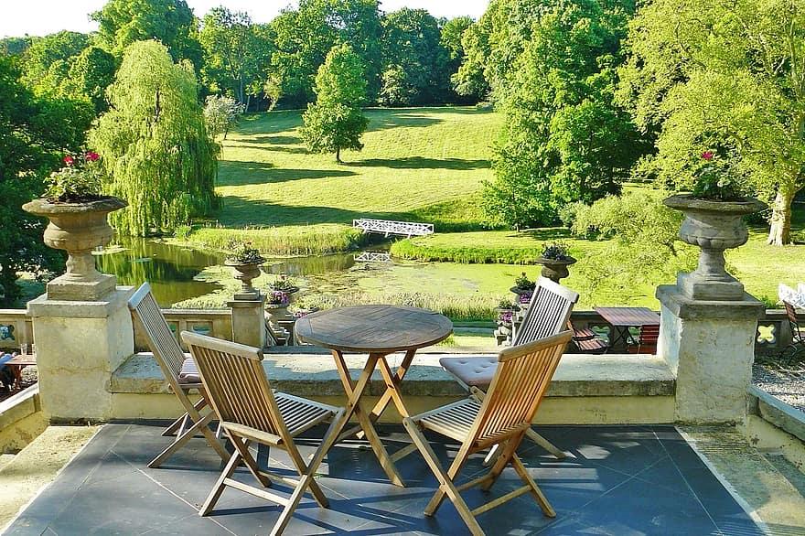 castle park hotel terrace park idyllic romantic architecture property garden architecture