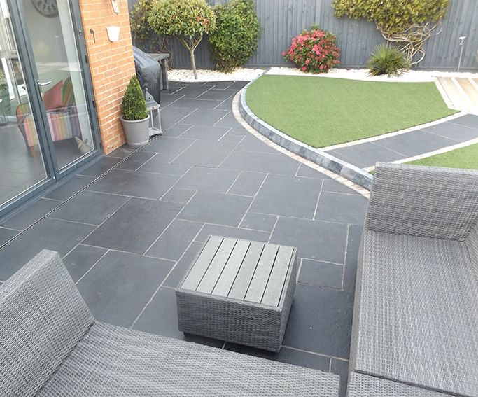 flagstone patio design and inspiration