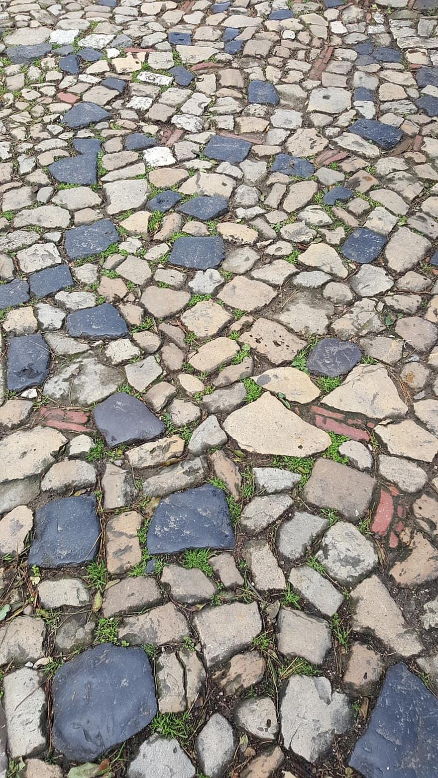 pavers roads lisbon mosaic
