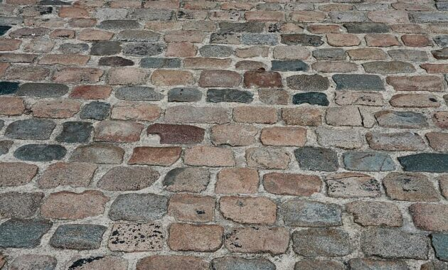 pavers stones soil street road old road pavers medieval lane colors red grey