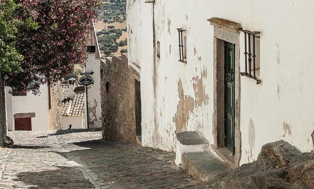 portugal streets pavers medieval village