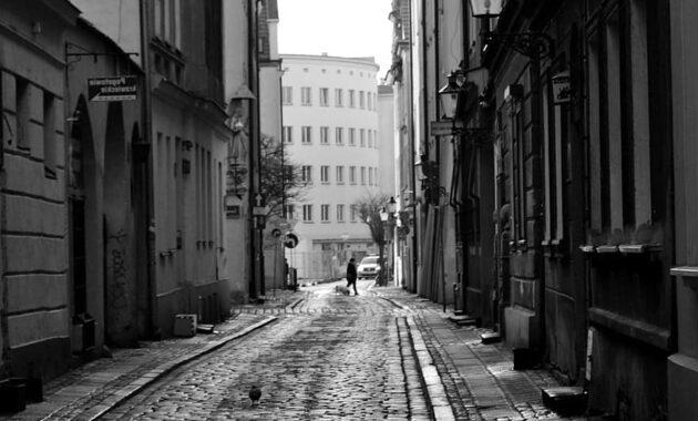 street city walkway pavers architecture