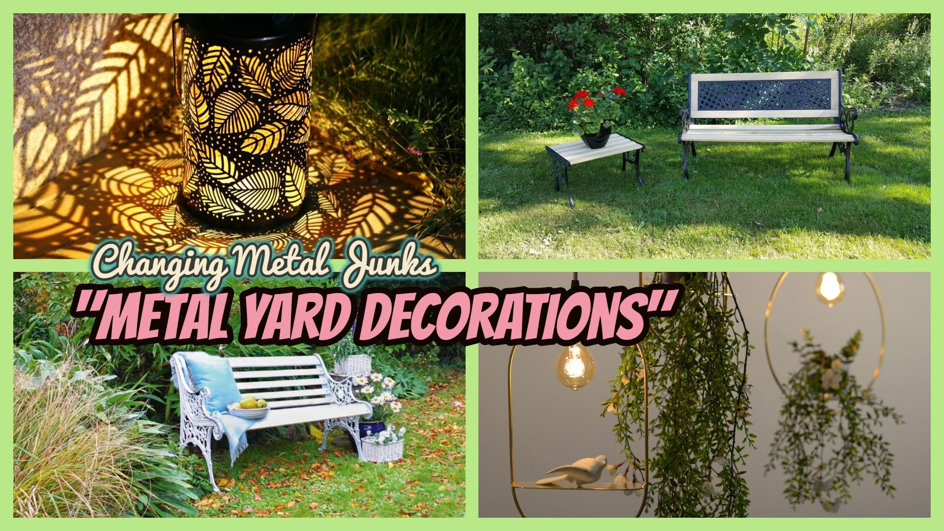 Metal Yard Decorations
