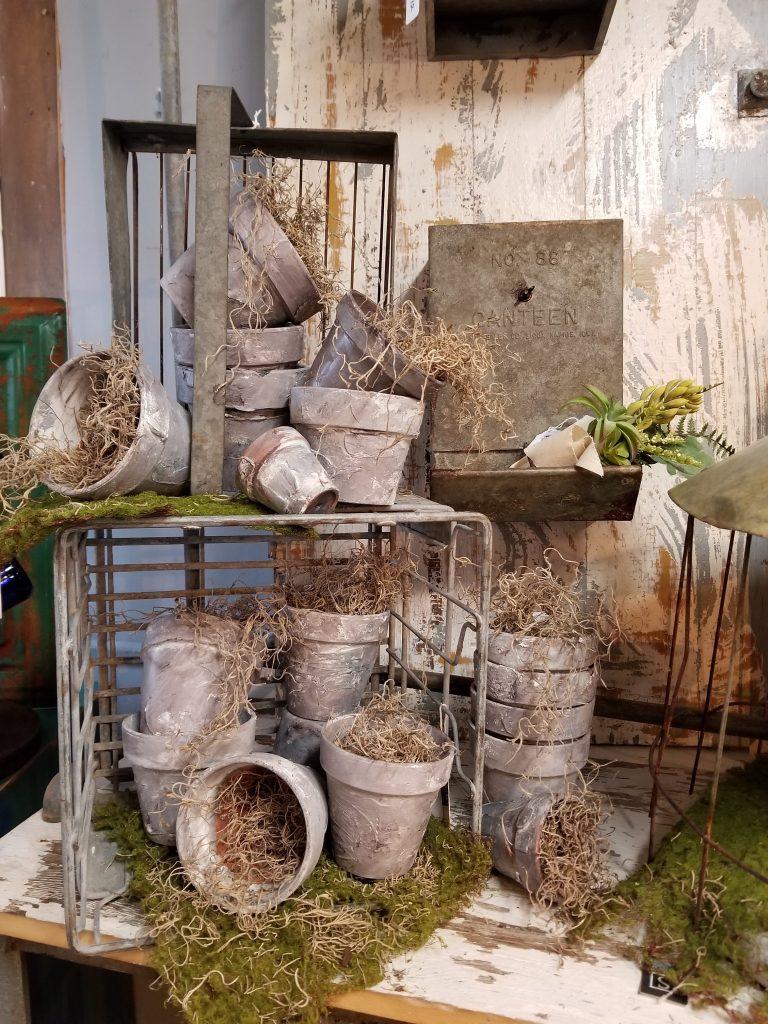 Vintage Concrete Planters