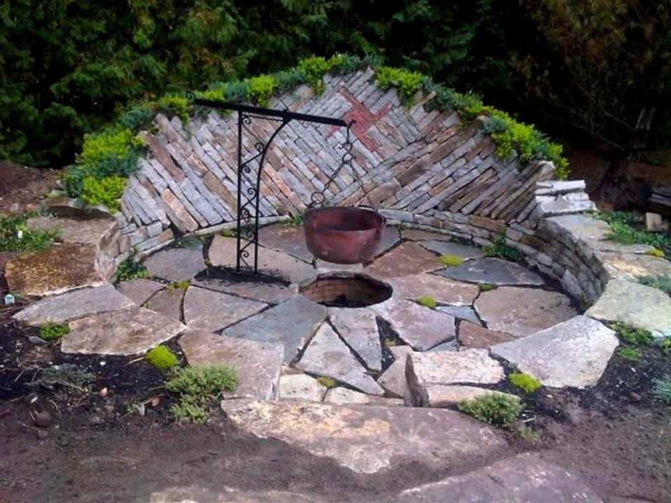 backyard firepit ideas - patio ideas simple fire pit
