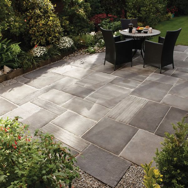 beautiful garden with paving stone ideas