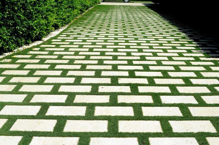 beautiful patio pavers with grass inspiration