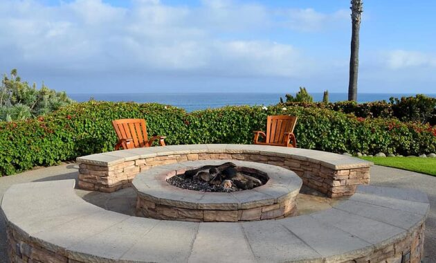 fire pit lonely relaxation