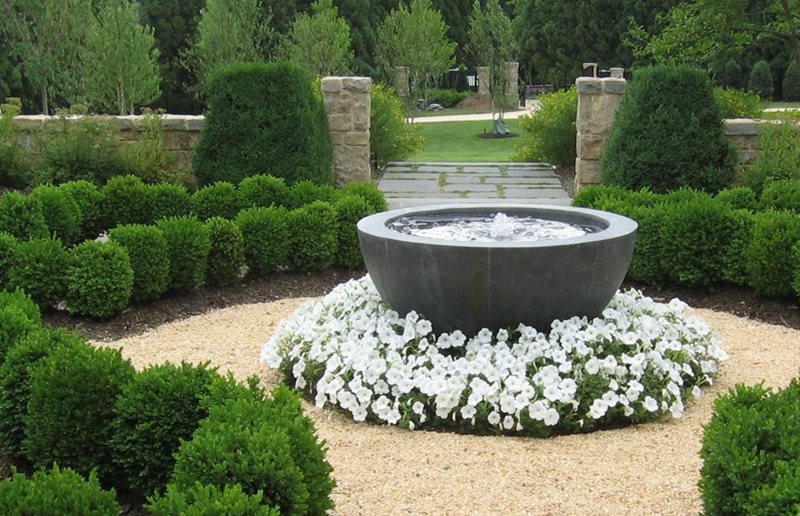 fountain - landscaping ideas with fountain design