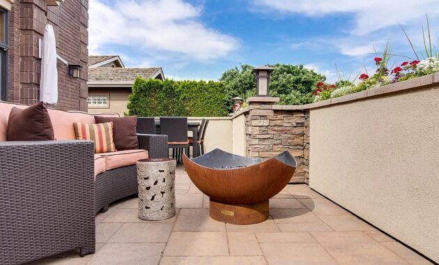 home decor real estate interior design outdoor patio patio model home homes firepit