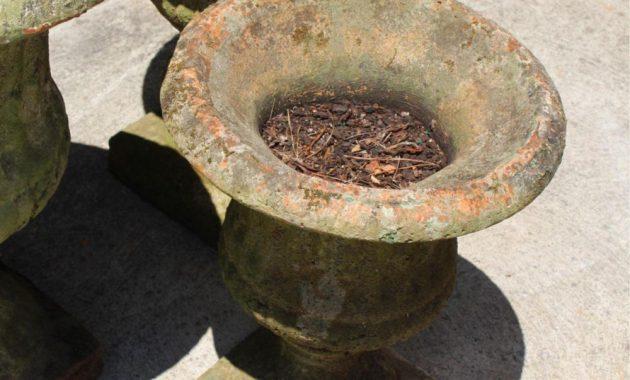 old fashion concrete planters