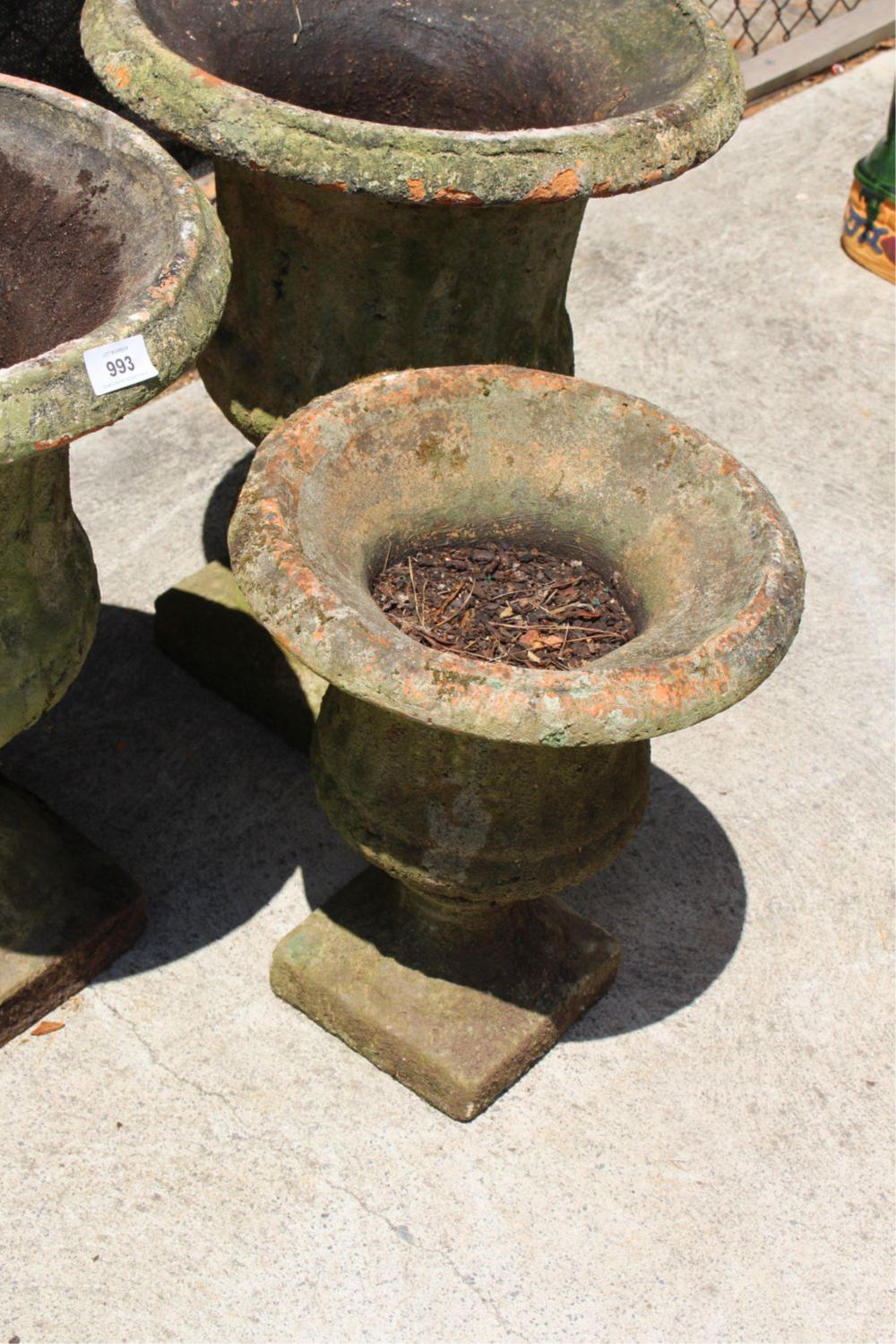 old fashion concrete planters