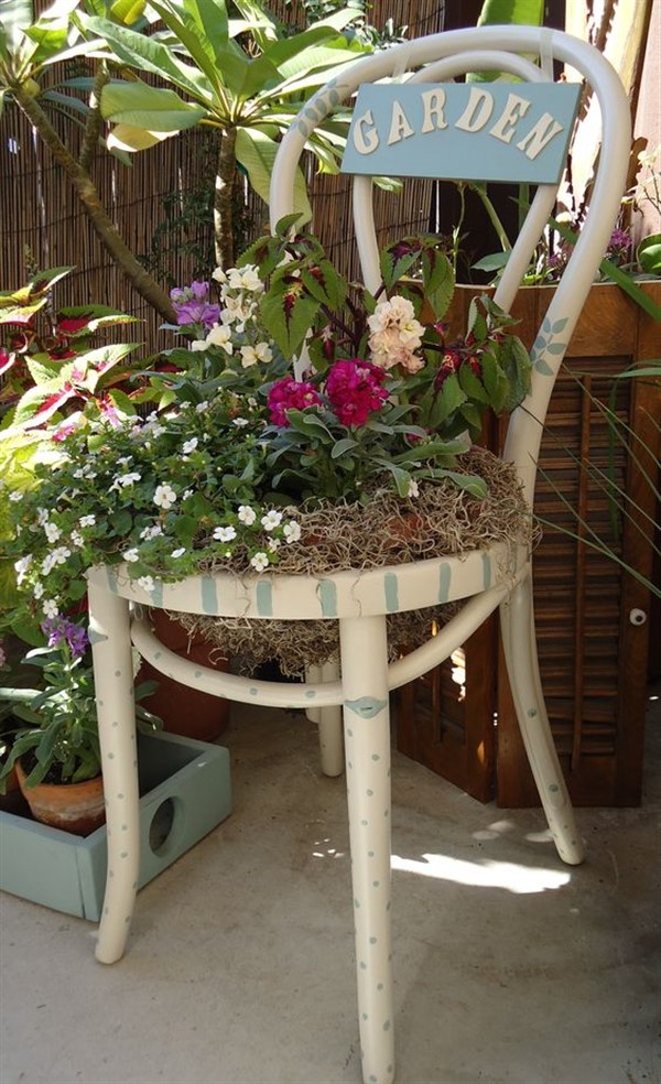 rustic planter decoration
