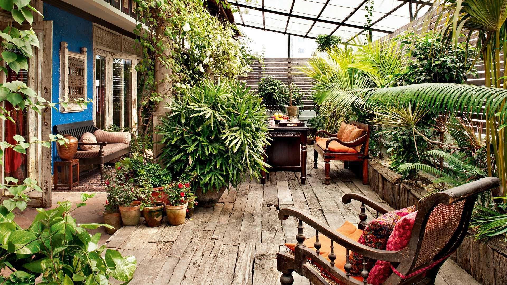wooden concept small garden ideas