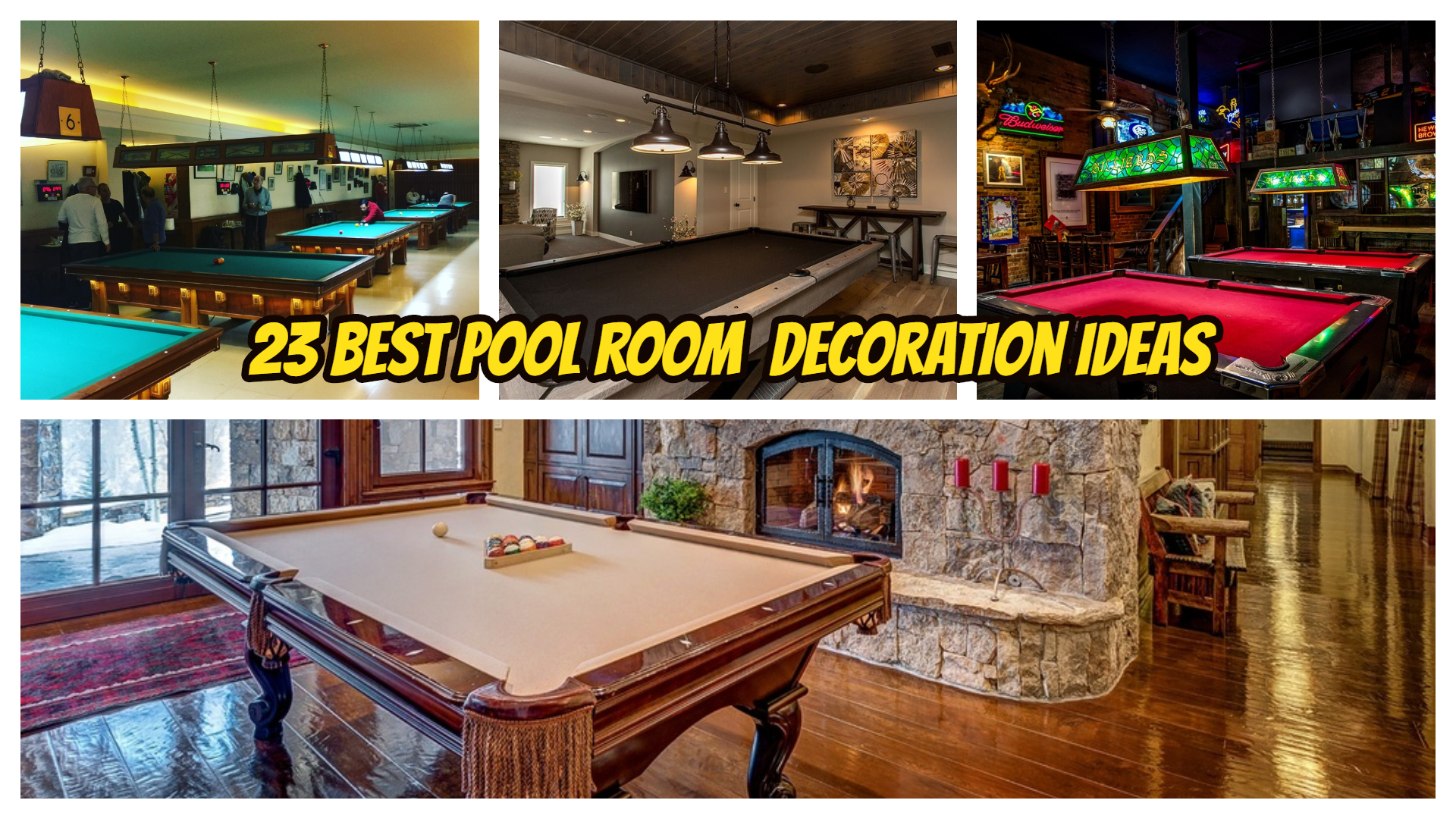 Pool Room Decoration