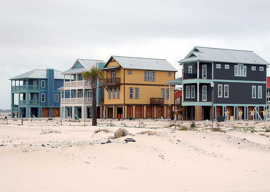 beach homes construction industry florida usa tropical climate multi family beach sand