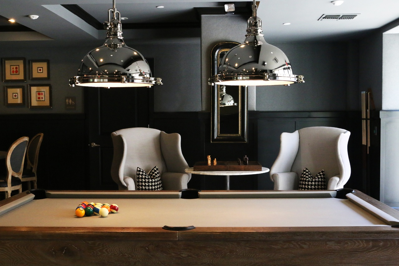 pool room wall decorations