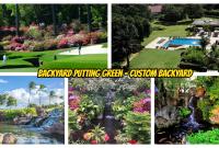 Backyard Putting green and custom backyard