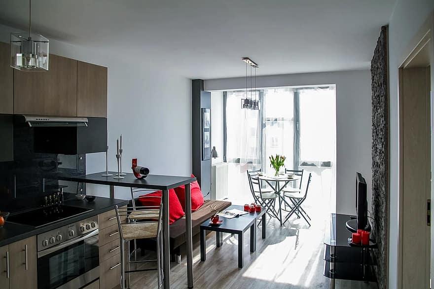 apartment room house residential interior interior design decoration comfortable apartment flowers tulips 1