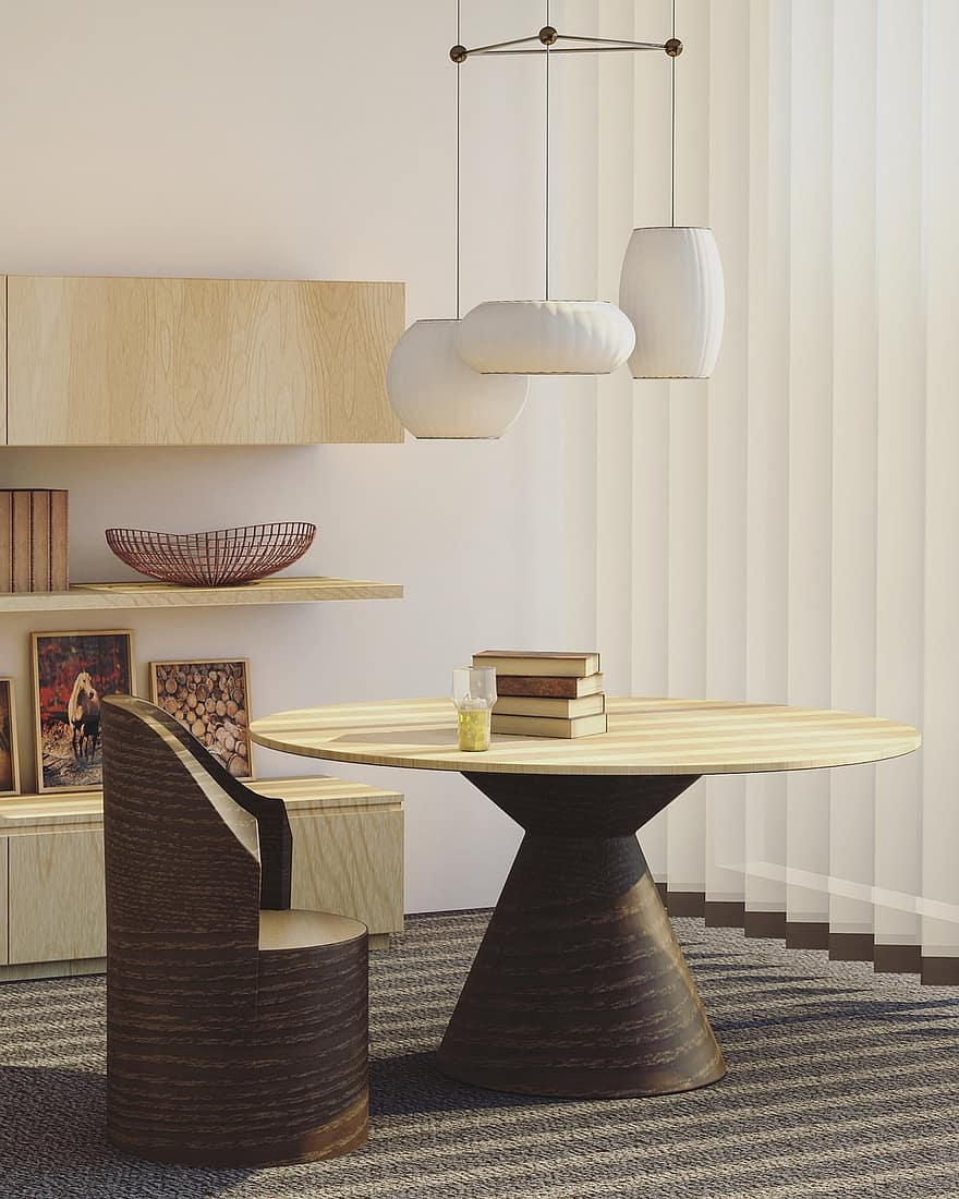 architecture house interior design living room table chair furniture