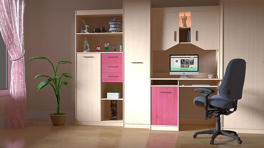 computer room room computer work indoors interior working