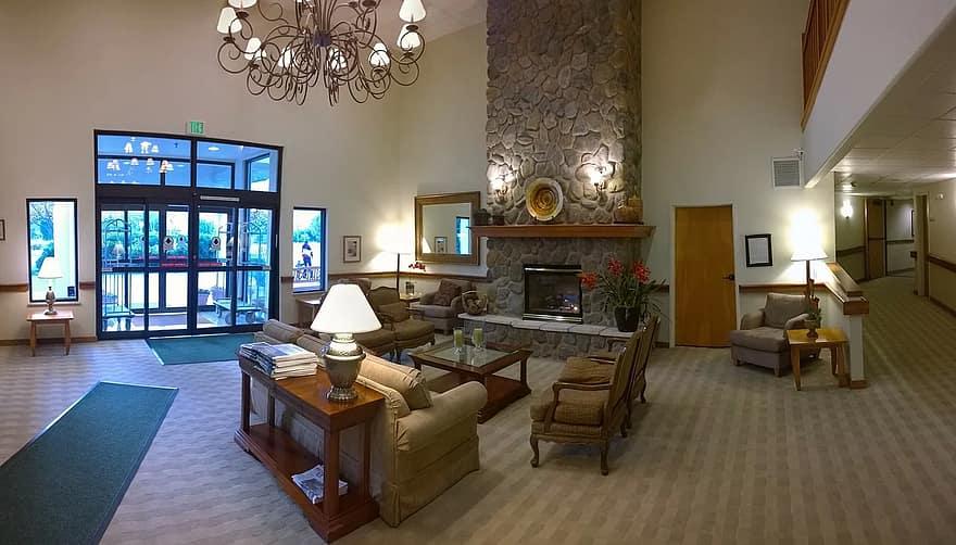 lobby reception hall hotel livingroom living room interior decoration interior design