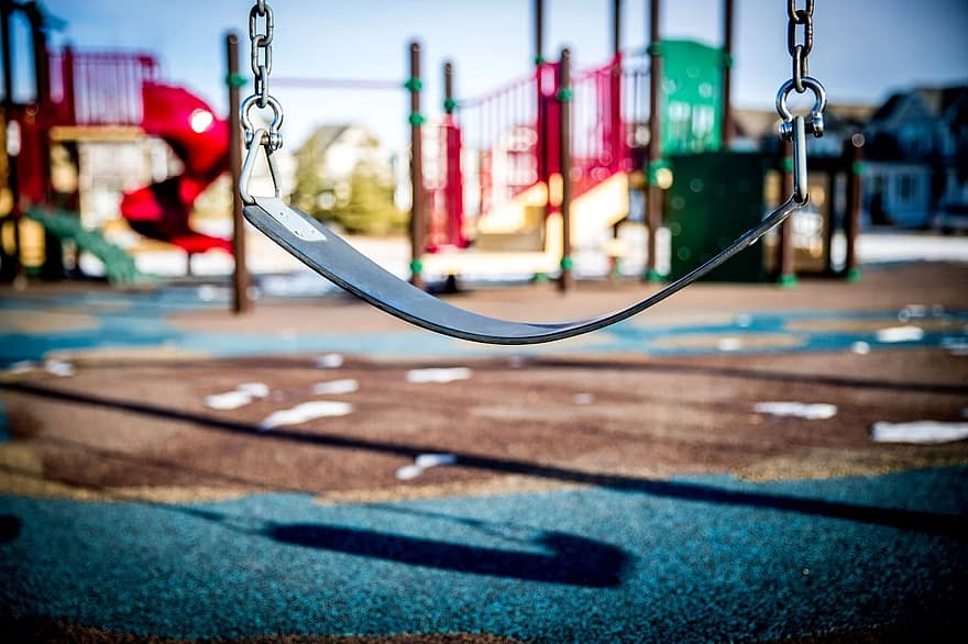 swing playground children playing park child play happy activity kids playground