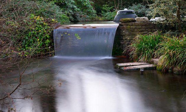 waterfall flow pond japanese garden water waters garden bach