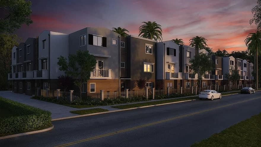 condominium condo architecture apartment residential property home real estate housing