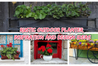 rustic outdoor planter 1