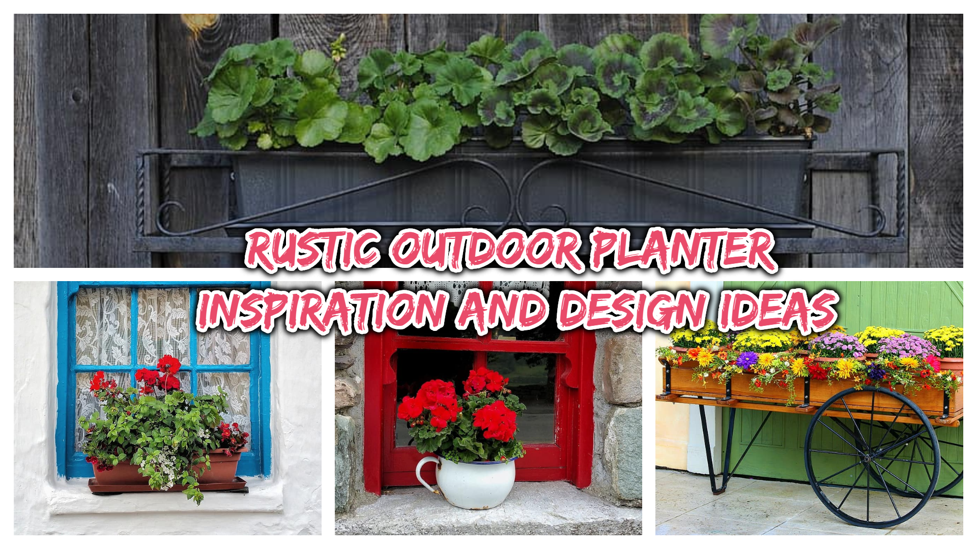rustic outdoor planter 1