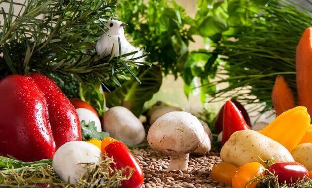 vegetables garden mushrooms paprika food eat harvest bio fresh