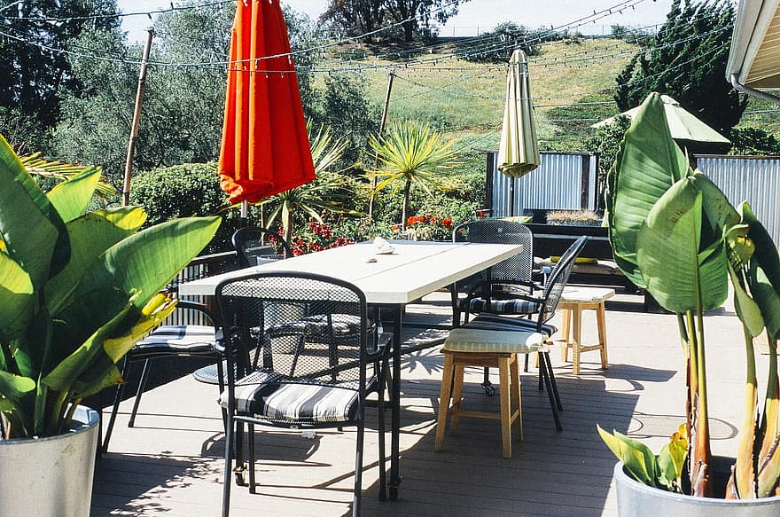 garden porch table furniture chairs home house summer yard exterior