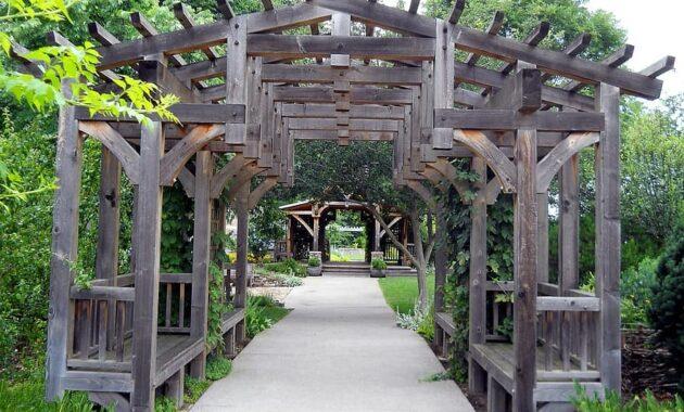 gardens trellis landscaping decoration wooden backyard design pergola