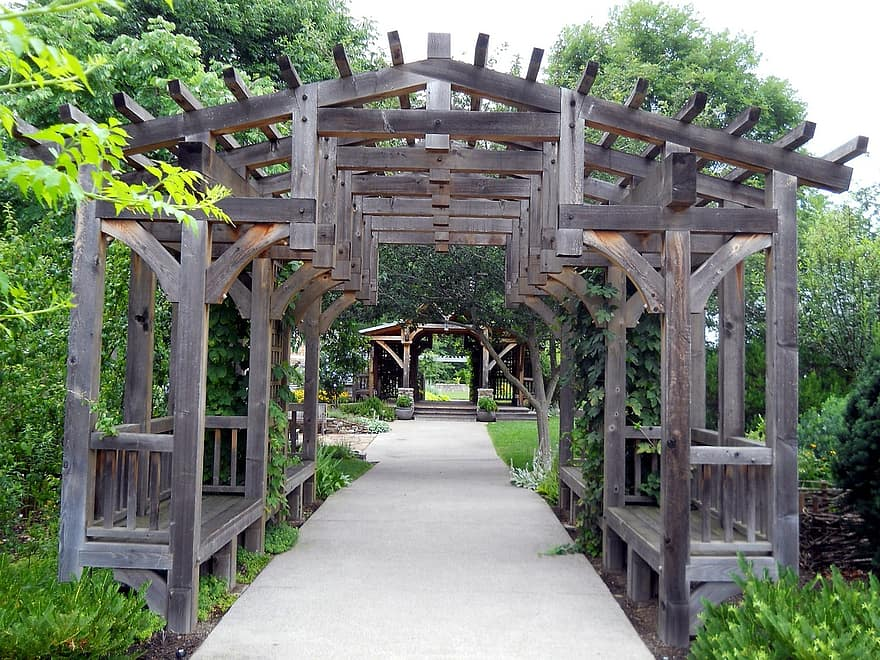gardens trellis landscaping decoration wooden backyard design pergola