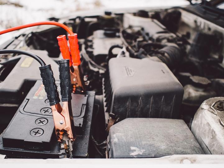car vehicle automotive hood battery engine