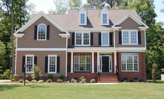 house country house exterior facade 2 levels family new construction