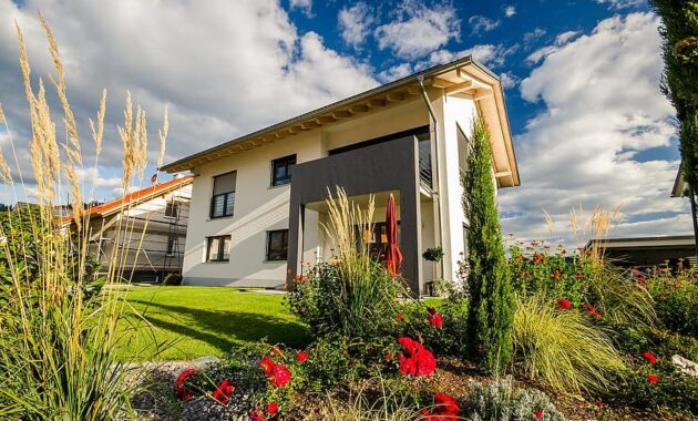 single family home house garden building architecture housebuilding new building home accommodation