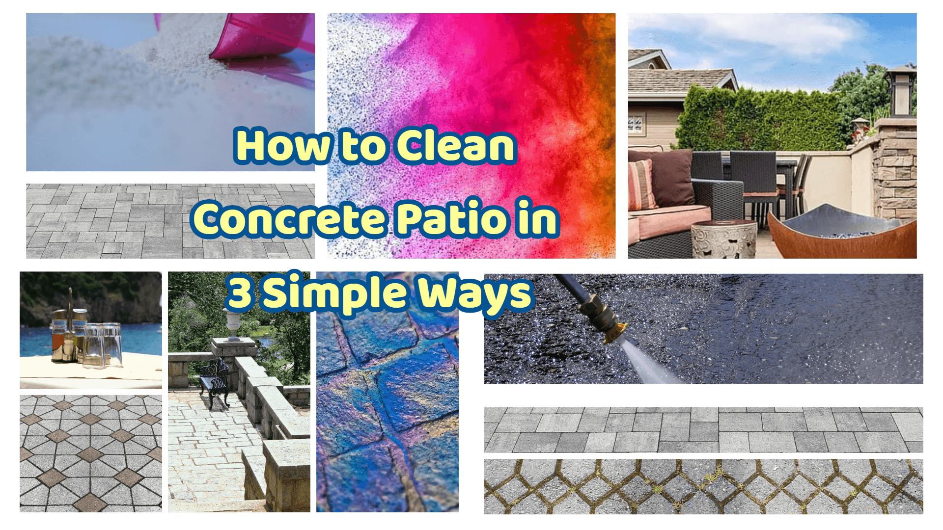 How to Clean Concrete Patio in 3 Simple Ways