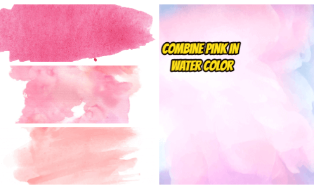 combine pink in water color