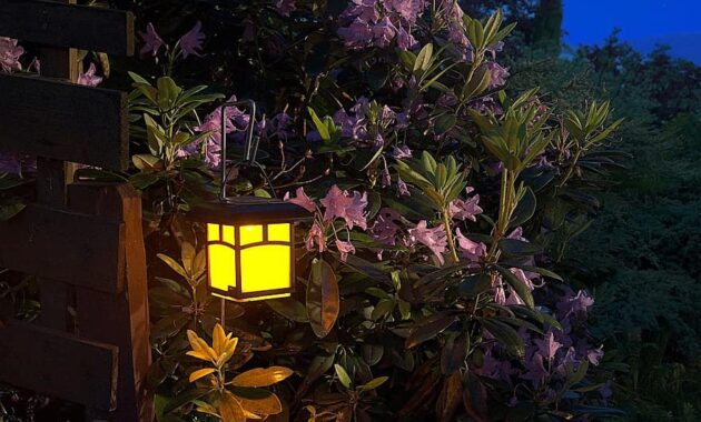 garden night lantern light romantic corner flowers replacement lamp night garden