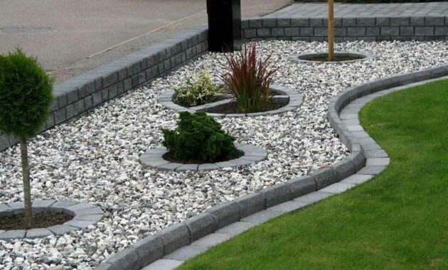 Georgeous Front yard Rock Garden Ideas