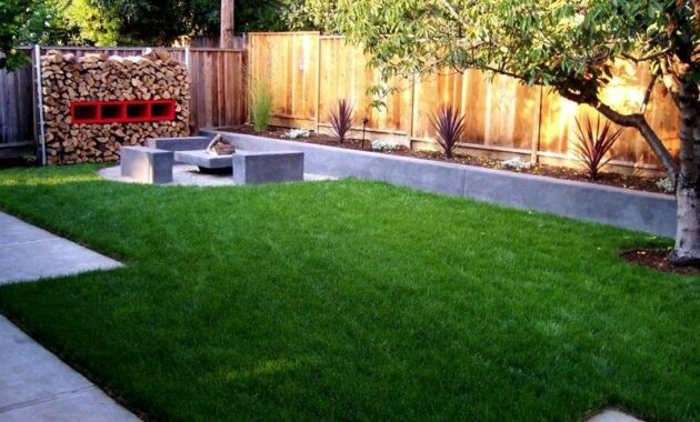 Minimalist Garden With Pavers Ideas