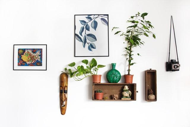 Floral art wall decor
