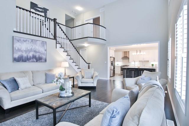 blue minimalist modern home decor