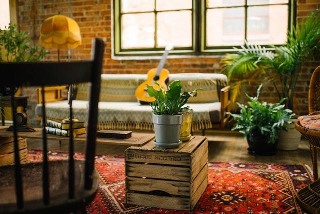 brick and wood decor rustic ideas