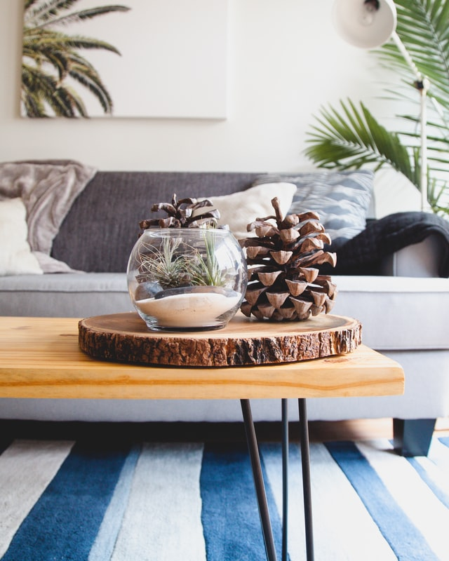 elegant living room ideas with floral art in frame
